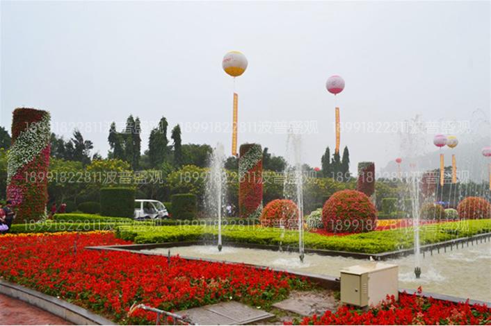 园林花球、景观花球、立体花球案例