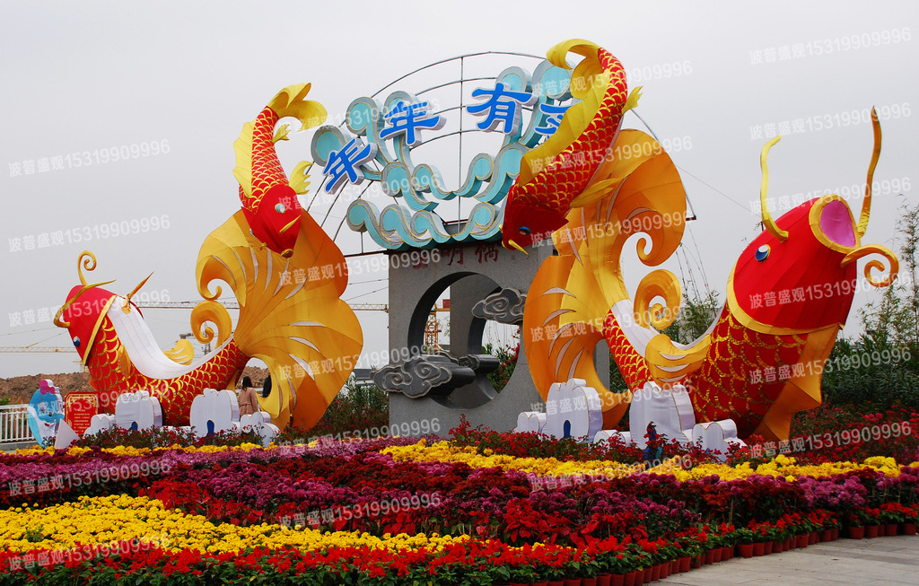 春节彩灯布展工程施工