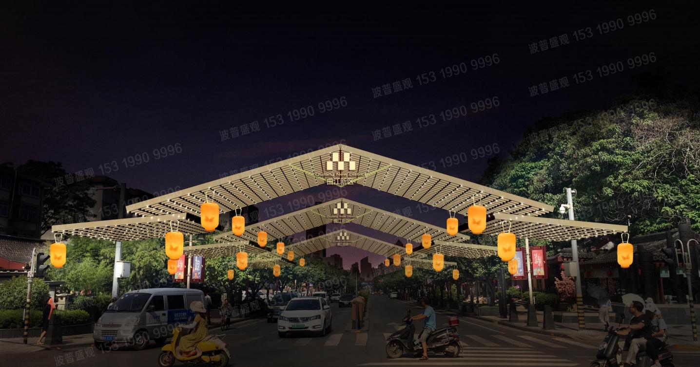 西安春节节日景观布置已确定方案