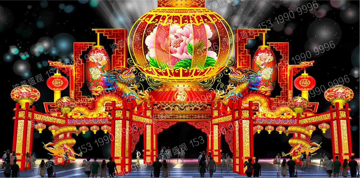 国家4A级景区大荔同州湖2020年春节彩灯嘉年华