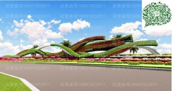 深圳道路立体花坛案例