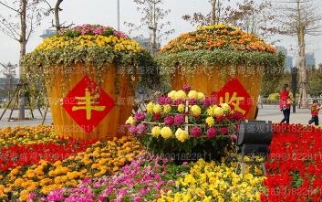 """第二届""""大西安农民节"""" 绿雕案例"""
