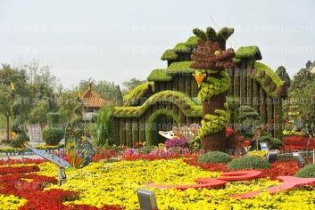 五色草立体花坛未来生态城市大势所趋