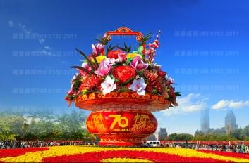 广场花篮、国庆花篮、春节花篮制作经验分享