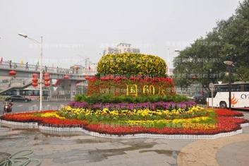 太原立体花坛炫彩面市于太原滨河路
