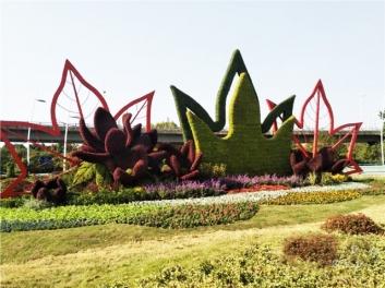 市政道路立体花坛绿雕,为城市送来了生机与活力!