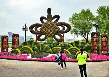 曲江新区新增立体花坛|绿雕|五色草造型引领城市新派景观