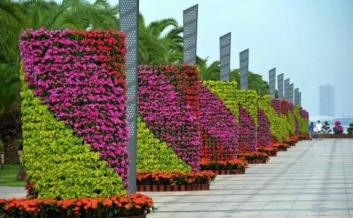 立体花柱、立体花球、园林花柱、园林花球、节日花柱、节日花球