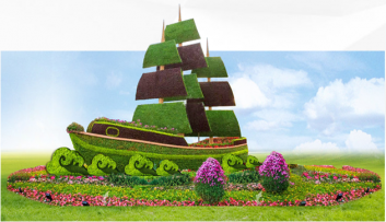 绿雕既节日景观提升又生态环保