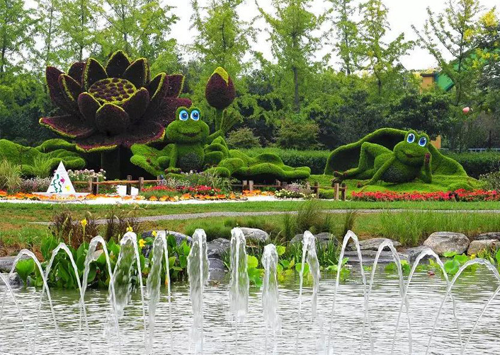陕西景区立体花坛