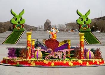 景区节日立体花坛
