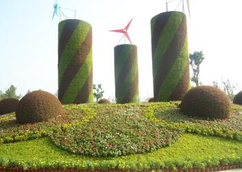 五色草花柱