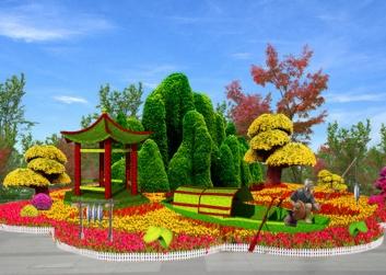 国庆公园绿雕设计