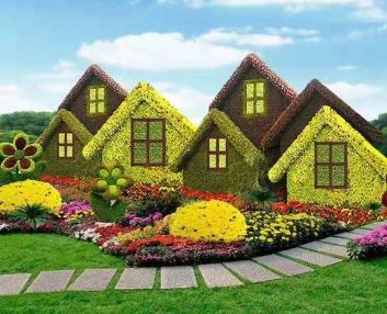 西安五色草立体花坛、五色草绿雕、五色草造型用草种植基地