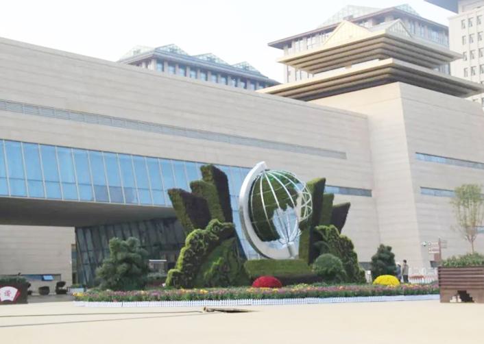广场植物雕塑